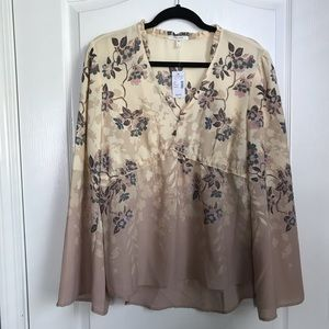 Maurices Long Sleeve Floral Top NWT